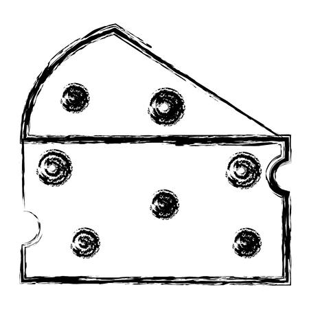 신선한 치즈 조각 아이콘 벡터 일러스트 레이 션 디자인 스톡 콘텐츠 - 80347874