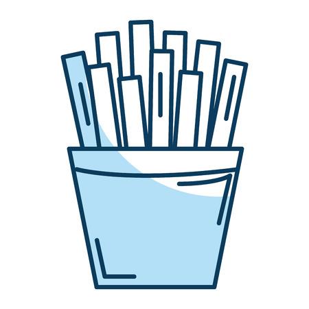 potatoes fries isolated icon vector ilustration design Illustration