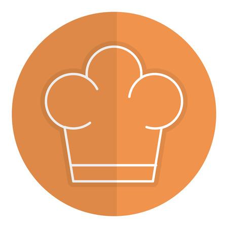 Isolated icon hat graphic job profesional uniform Illustration