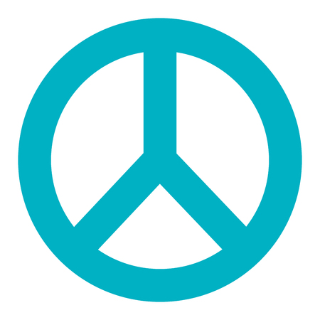 original ecological: peace symbol isolated icon vector illustration design Illustration