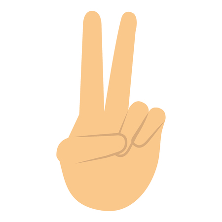 hand human with peace and love gesture vector illustration design