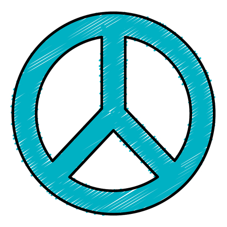 pacificist: peace symbol isolated icon vector illustration design Illustration