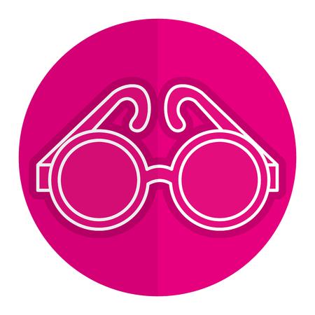 eyewear fashion: elegant eye glasses icon vector illustration design