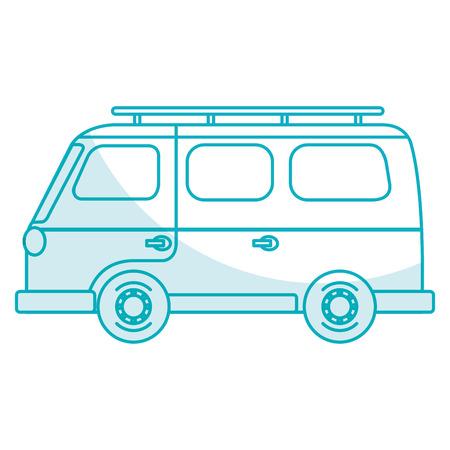 van turism isolated icon vector illustration design