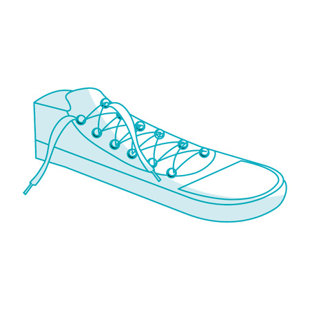 shoes young style icon vector illustration design Çizim