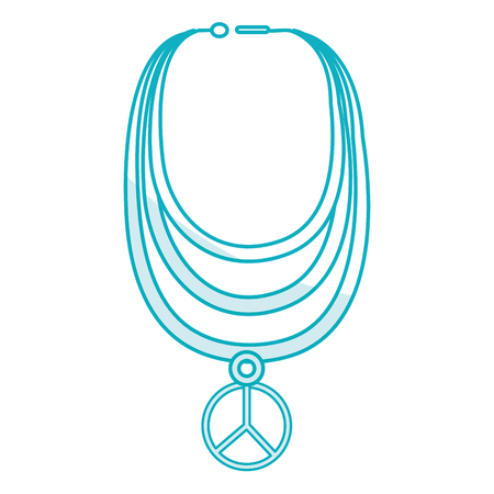 original ecological: necklace with peace symbol isolated icon vector illustration design Illustration
