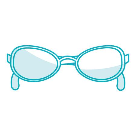Elegante oogglazen icoon vector illustratie ontwerp