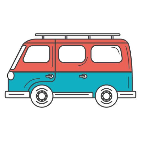 bestelwagen turism isoleerde vector de illustratieontwerp van het pictogram Stock Illustratie