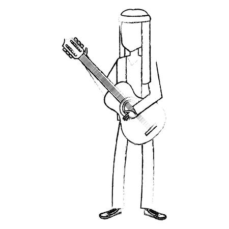 Man met hoofdband karakter hippy lifestyle vector illustratie ontwerp