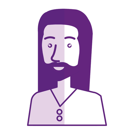 man character hippy lifestyle vector illustration design