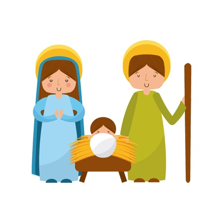 manger characters isolated icon vector illustration design Illustration