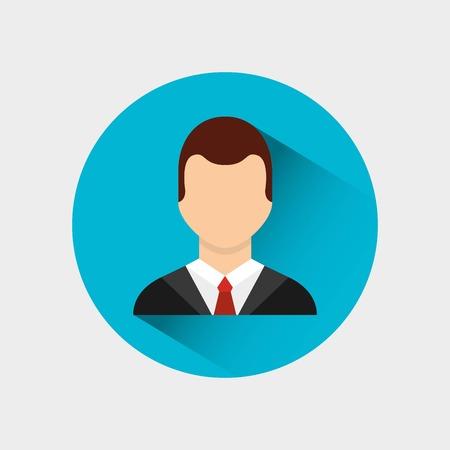 young man avatar male vector illustration design