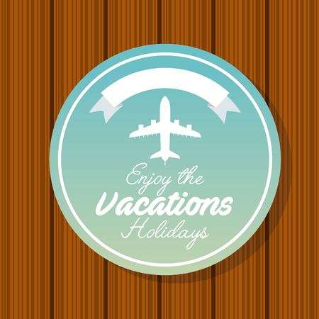 leaving: enjoy vacations travel isolated icon vector illustration design Illustration