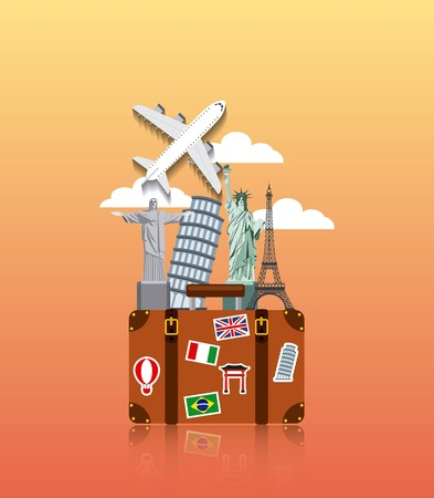 enjoy vacations travel isolated icon vector illustration design Illusztráció