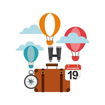 geniet van het pictogramontwerp van de vakantiesreis geïsoleerd pictogram Stock Illustratie