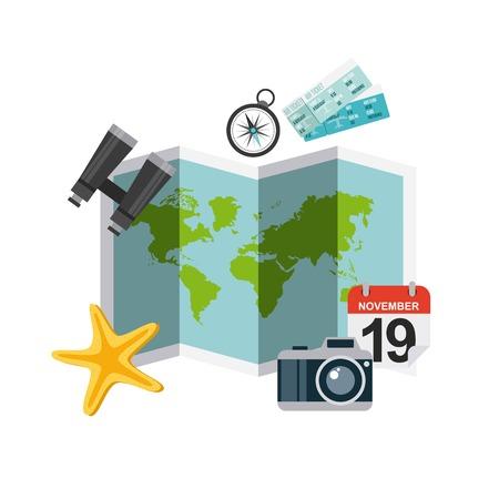 Geniet van het pictogramontwerp van de vakantiesreis geïsoleerd pictogram Stockfoto - 80352421