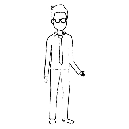 businessman avatar character icon vector illustration design Stok Fotoğraf - 80352568
