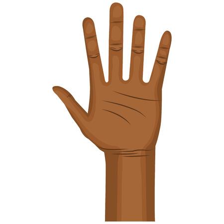 Illustrazione vettoriale di icone aperte di mano umana Archivio Fotografico - 80352814