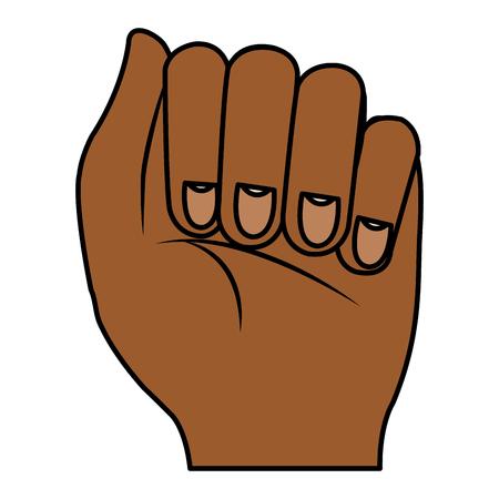 Diseño del ejemplo del vector del icono del puño humano mano Foto de archivo - 80352969
