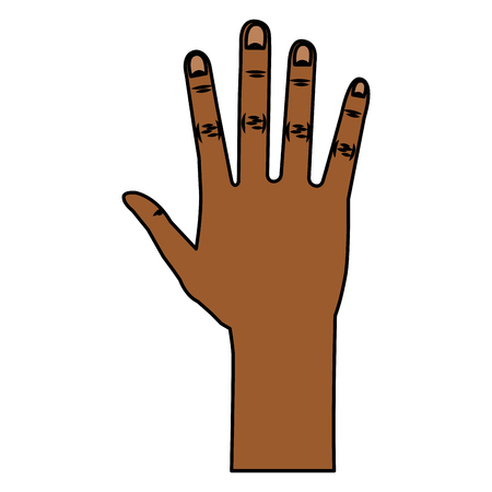Illustrazione vettoriale di icone aperte di mano umana Archivio Fotografico - 80352979