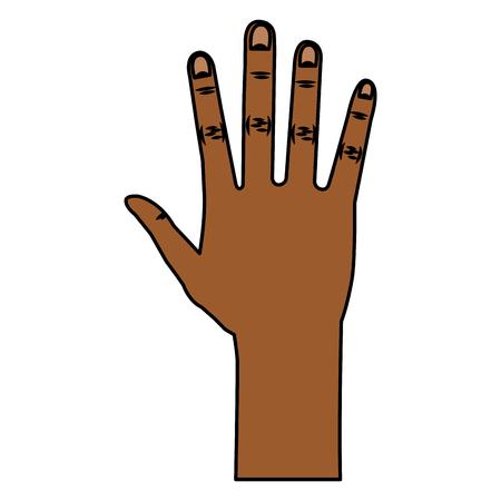 hand human open icon vector illustration design