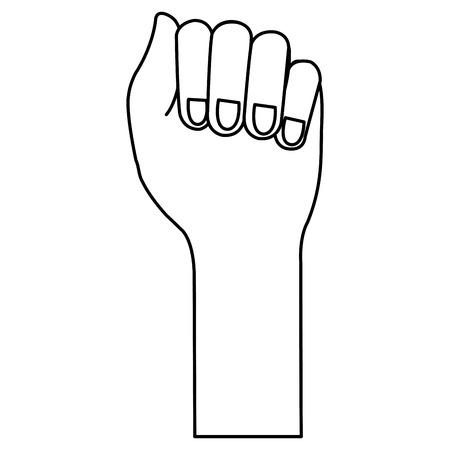 Mano de puño humano icono de diseño de ilustración vectorial Foto de archivo - 80352836