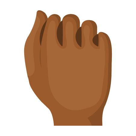 Mano de puño humano icono de diseño de ilustración vectorial Foto de archivo - 80352846