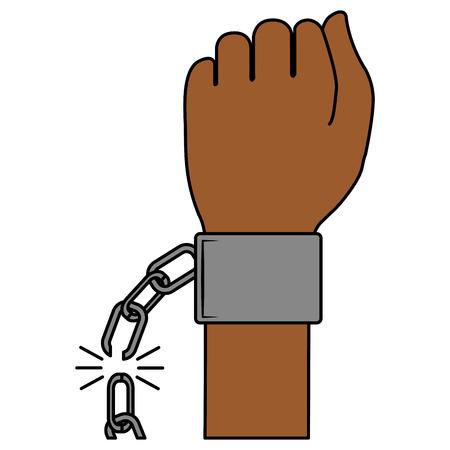 Hand Mensch mit Handschellen Vektor-Illustration Design Standard-Bild - 80352844