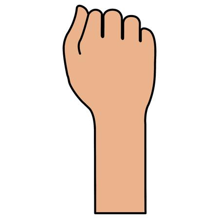 Diseño de ilustración de vector de icono de mano humana puño Foto de archivo - 80352848