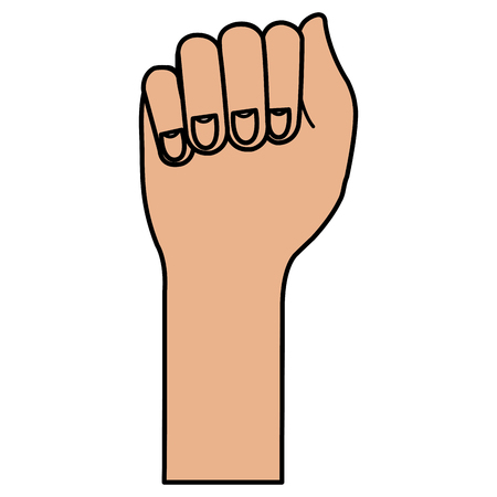 demonstrate: hand human fist icon vector illustration design Illustration