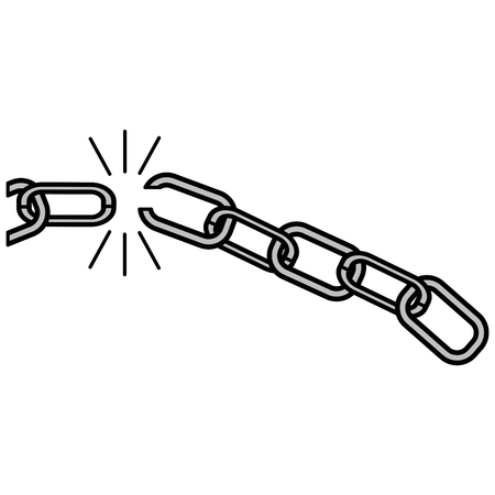 jail: chain break isolated icon vector illustration design