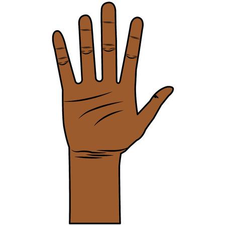 Illustrazione vettoriale di icone aperte di mano umana Archivio Fotografico - 80352965