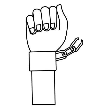 Hand Mensch mit Handschellen Vektor-Illustration Design Standard-Bild - 80352966