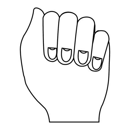 Mano de puño humano icono de diseño de ilustración vectorial Foto de archivo - 80352967
