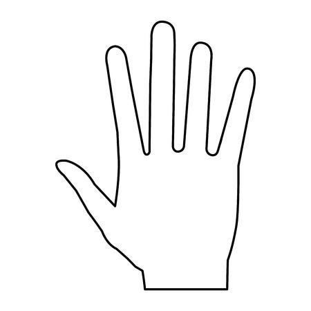 Illustrazione vettoriale di icone aperte di mano umana Archivio Fotografico - 80352968