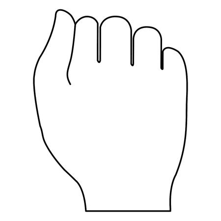 hand human fist icon vector illustration design Vettoriali