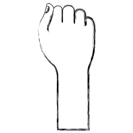 Mano de puño humano icono de diseño de ilustración vectorial Foto de archivo - 80352448