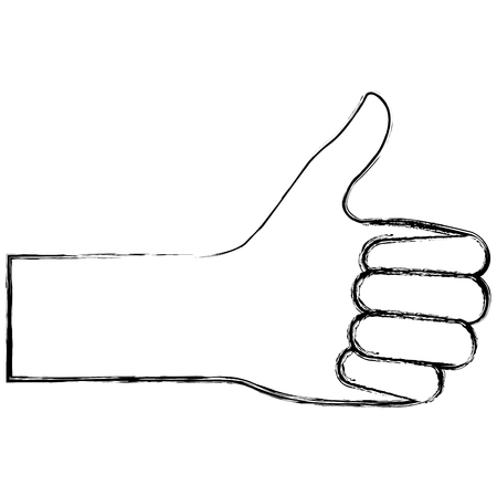 alright: hand human with like gesture vector illustration design