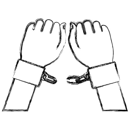 hand human with handcuff vector illustration design Banco de Imagens - 80352434