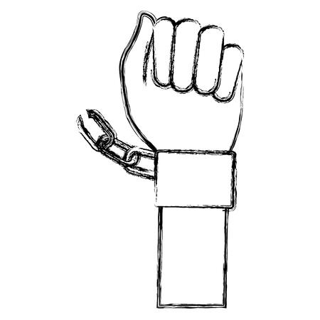 Hand Mensch mit Handschellen Vektor-Illustration Design Standard-Bild - 80352439