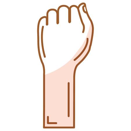 Diseño del ejemplo del vector del icono del puño humano mano Foto de archivo - 80353002