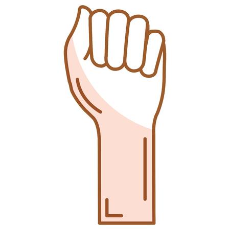 Mano de puño humano icono de diseño de ilustración vectorial Foto de archivo - 80353001