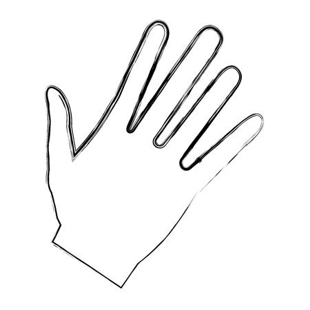 Illustrazione vettoriale di icone aperte di mano umana Archivio Fotografico - 80353003