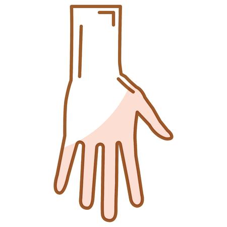 人間のオープン アイコン ベクトル イラスト デザインを手します。  イラスト・ベクター素材