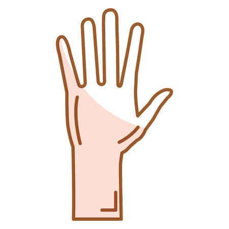 Illustrazione vettoriale di icone aperte di mano umana Archivio Fotografico - 80353008