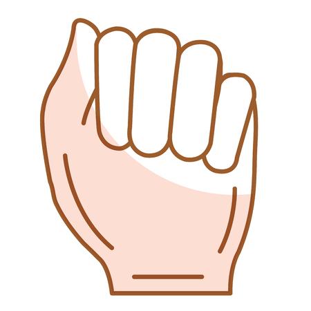Diseño del ejemplo del vector del icono del puño humano mano Foto de archivo - 80353720
