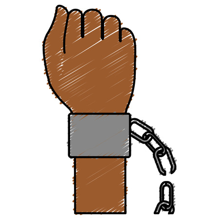 hand human with handcuff vector illustration design
