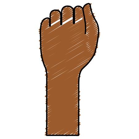 Mano de puño humano icono de diseño de ilustración vectorial Foto de archivo - 80353208