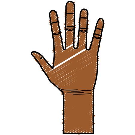 Illustrazione vettoriale di icone aperte di mano umana Archivio Fotografico - 80353213