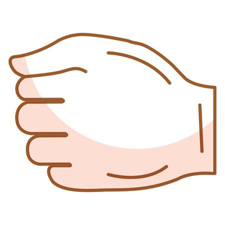 Diseño del ejemplo del vector del icono del puño humano mano Foto de archivo - 80353724